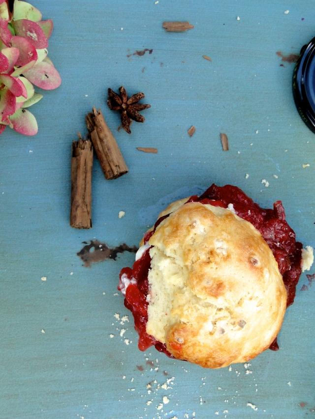 late summer plum jam & buttermilk scones