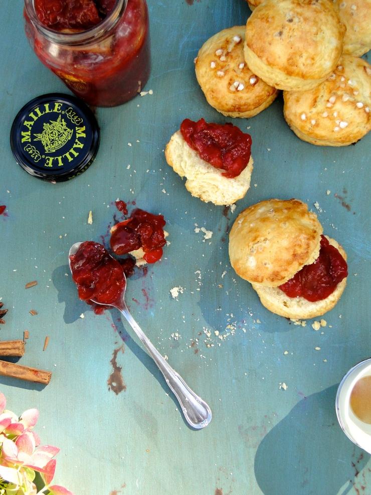late summer plum jam & crumbly buttermilk scones