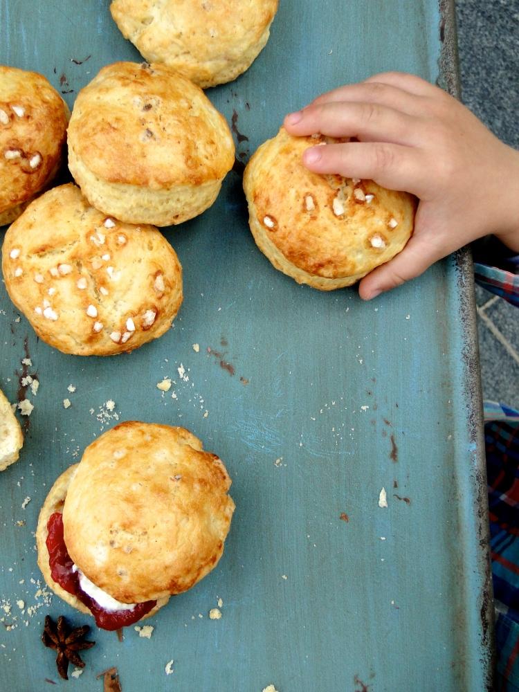 crumbly buttermilk scones & plum jam