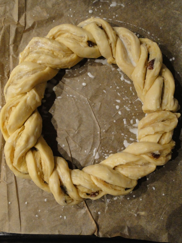 marzipan wreath