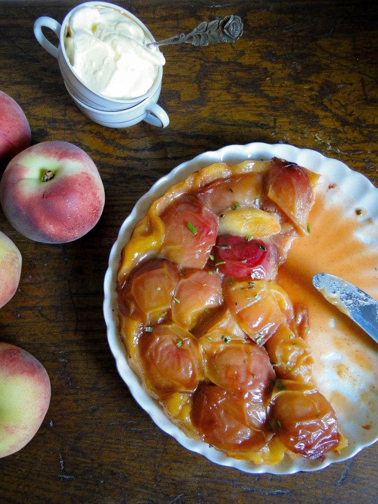 peach & rosemary tarte tatin 1-