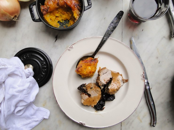 pumpkin gratin & pork filet-6