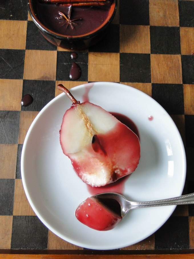 red wine poached pears-5