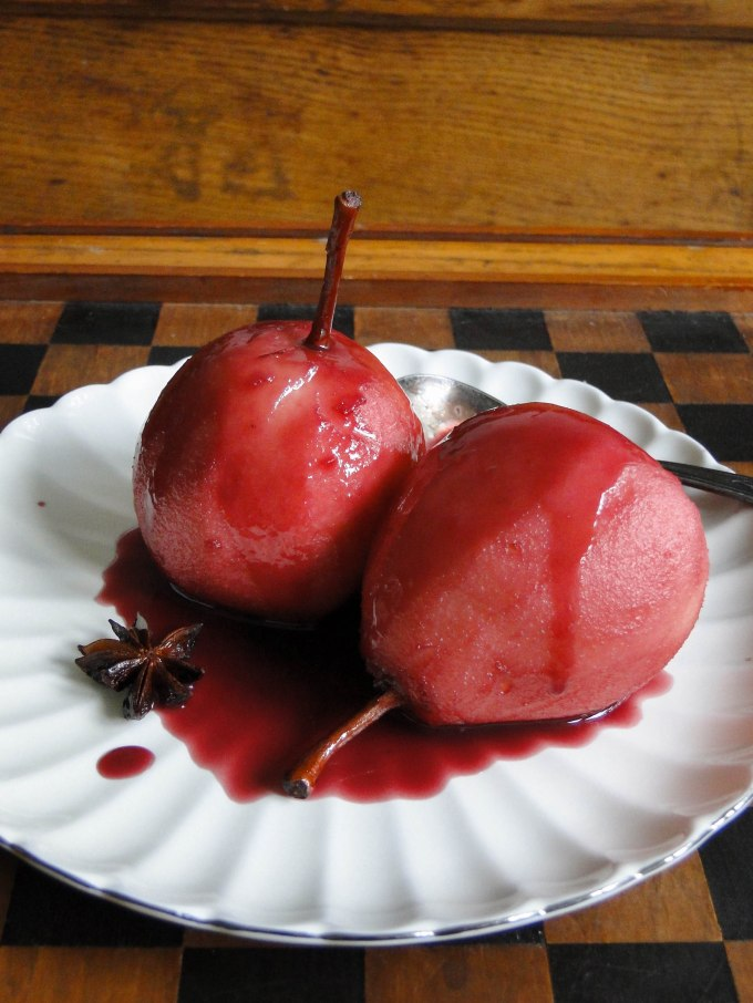 red wine poached pears-6