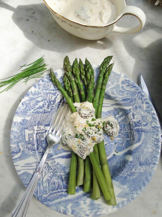 green asparagus morilles-2