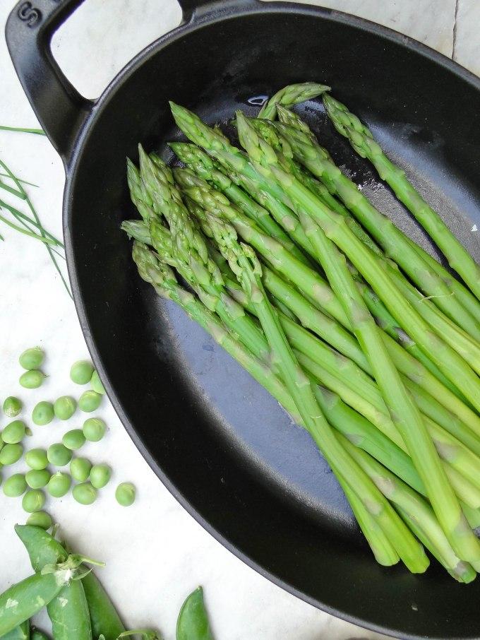 green asparagus morilles-5