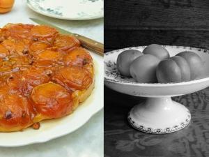 tatin &apricots bw