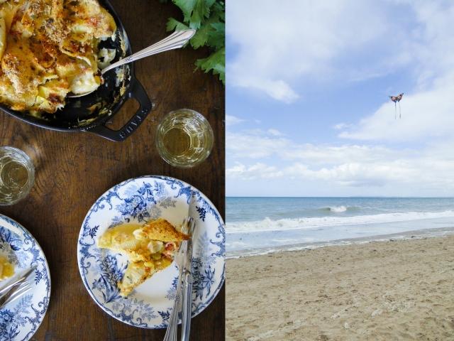crab gratin & beach 2
