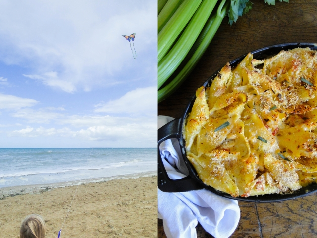 crab gratin & beach 3