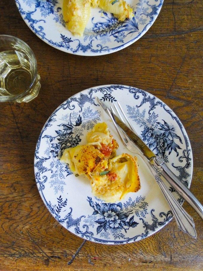 crab pasta gratin-2