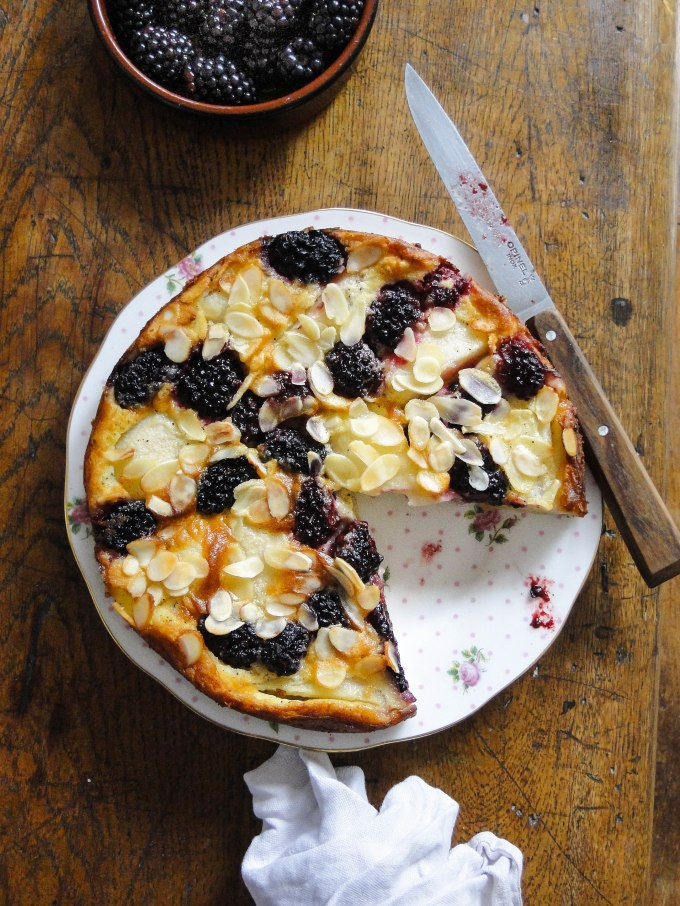 blackberry & pear clafoutis