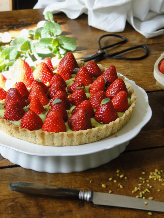 strawberry pistachio tart-2