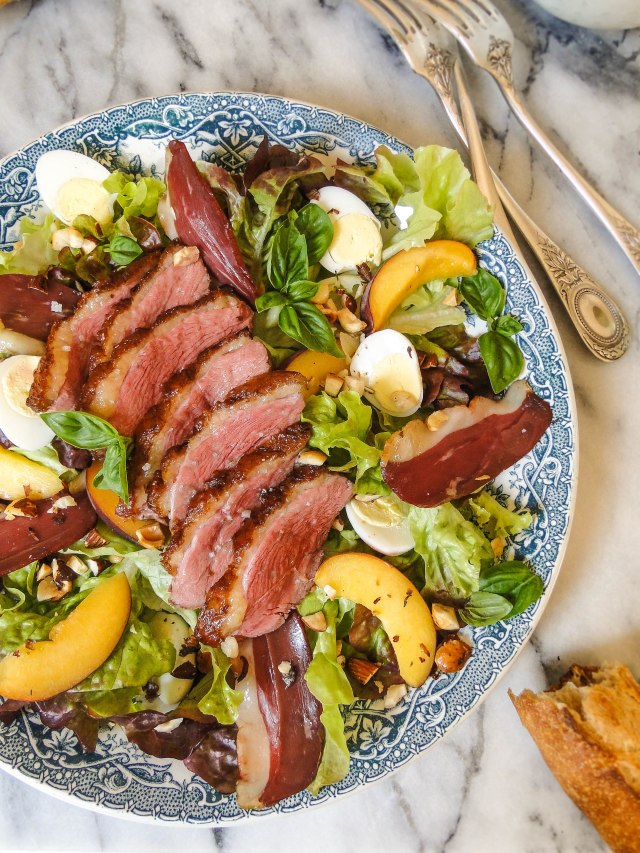 peach & duck salad-2